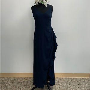 SAMPLE Bill Levkoff navy formal dress. Size 10.